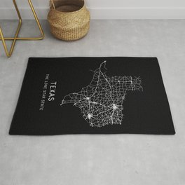 Texas State Road Map Rug