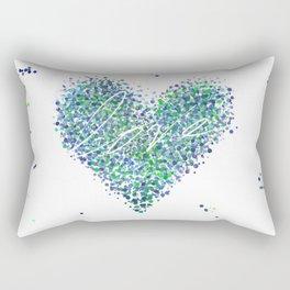 Love is Blue-Green Colorblind Rectangular Pillow