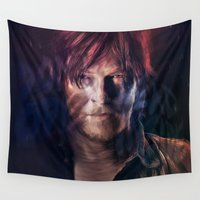 daryl Wall Tapestries featuring Daryl Dixon by Guilherme Marconi
