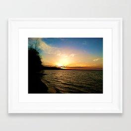 Sun on Big Platte Framed Art Print