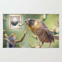Illegal Bird Meeting Rug