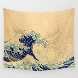 Hokusai parchment Wall Tapestry