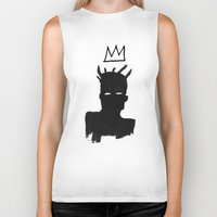 basquiat Biker Tanks featuring KING BASQUIAT by Lucas Schievenin