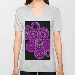 Purple Gears Unisex V-Neck