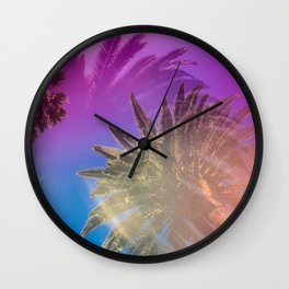 Palm Tree Skyline Wall Clock