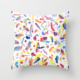 Abstract Painterly Brushstrokes Throw Pillow