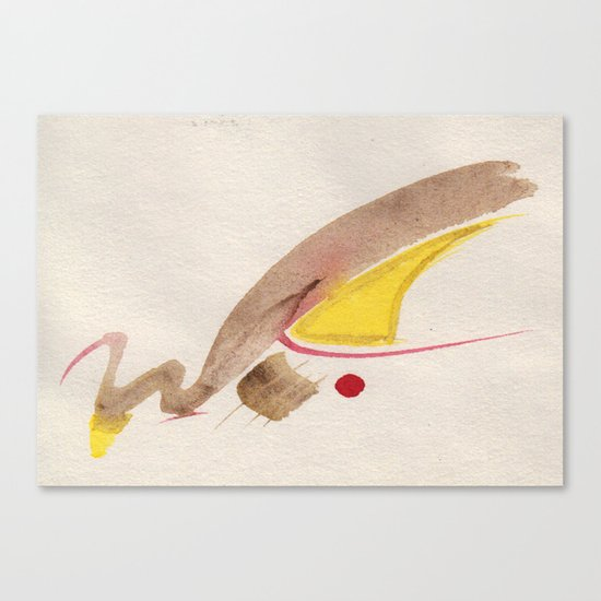 Goldschwan Canvas Print