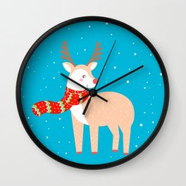Christmas Deer Wall Clock