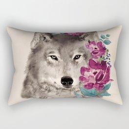 Gently Ferocious Rectangular Pillow