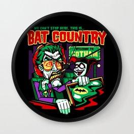 Harley's Bat Country Wall Clock