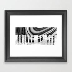 Marbled Music Art - Piano Keys - Sharon Cummings Framed Art Print