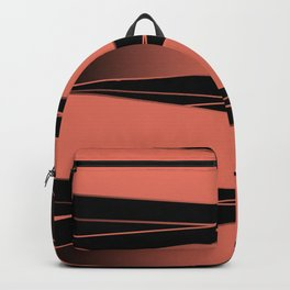 Black and red. Backpack