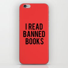 I Read Banned Books - Red B/G iPhone & iPod Skin