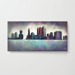 THE OTHER SIDE OF THE TOWN Metal Print