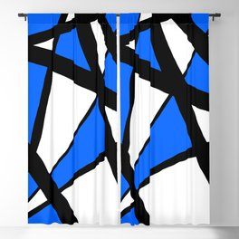 China Blue Geometric Triangle Abstract Blackout Curtain