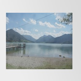 Lake Schliersee Throw Blanket