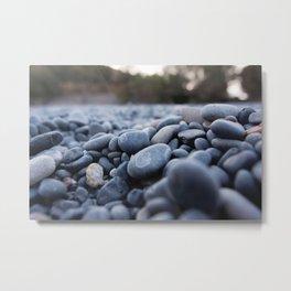 Summertime pebbles in Chios island Metal Print
