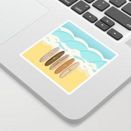 Aloha Surf Wave Beach Sticker
