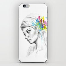 Butterfly Queen Girl with Butterflies iPhone & iPod Skin