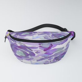 Purple Haze Painterly Floral Abstract Fanny Pack