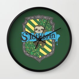 Slotherin Wall Clock