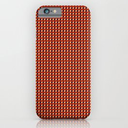 Red Squares Gold iPhone Case