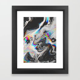 CONFUSION IN HER EYES THAT SAYS IT ALL Framed Art Print