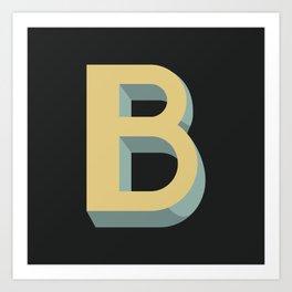 Type Seeker - B Art Print