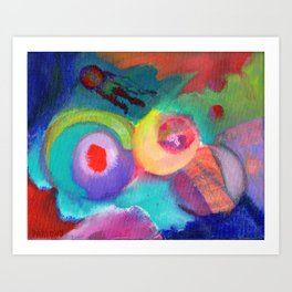 Escape, an abstract expressionist space scape Art Print