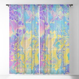 Unicorn Vibes Sheer Curtain