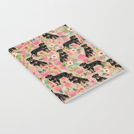 Rottweiler florals cute dog pattern pet friendly dog lover gifts for all dog breeds Notebook