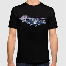 Humpback Mama Black MEDIUM Mens Fitted Tee