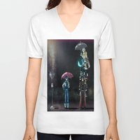 dramatical murder V-neck T-shirts featuring Dramatical Murder - My Neighbors... by Lalasosu2