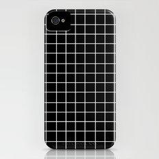 Grid (White/Black) Slim Case iPhone (4, 4s)