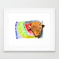 buffalo Framed Art Prints featuring BUFFALO by dorc