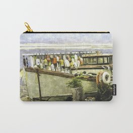 Watercolor Of An Old Fishing Ship Carry-All Pouch