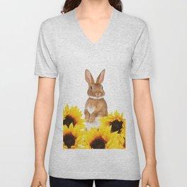 Sunflower Rabbit Unisex V-Neck
