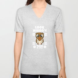 "Adorable and lovable tee that is perfect for gifts! Grab this cutie pie ""Look Whoo's  21!"" tee now!  Unisex V-Neck"