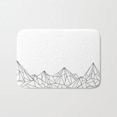 Night Court Mountain Design Bath Mat