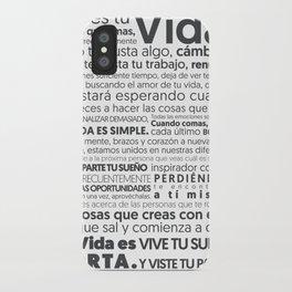 Es tu vida by Jota Torcida B&W iPhone Case