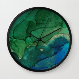 Ocean gold Wall Clock