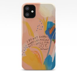 Find Joy. The Abstract Colorful Florals iPhone Case