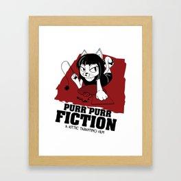 Purr Purr Fiction Framed Art Print