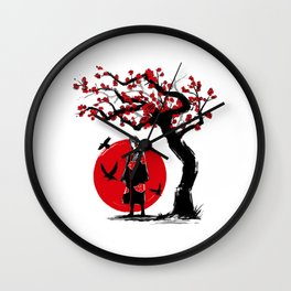 Ninja under the sun Wall Clock