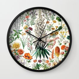 Adolphe Millot - Fleurs B - French vintage poster Wall Clock