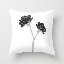 Flower Stems Throw Pillow