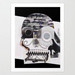 Collaged Skull Art Print