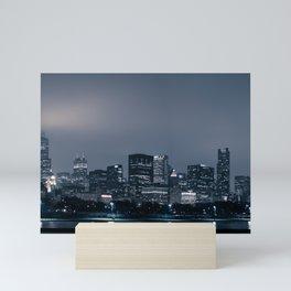 Chicago in Fog Mini Art Print