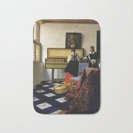 Johannes Vermeer  - The Music Lesson Bath Mat