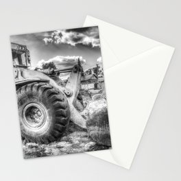 Bulldozer Machine from Earth Stationery Cards